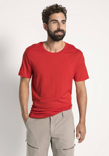 Herren Kurzarm-Shirt aus reiner Merinowolle