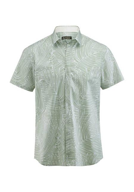 Herren Kurzarmhemd Slim Fit aus Bio-Baumwolle