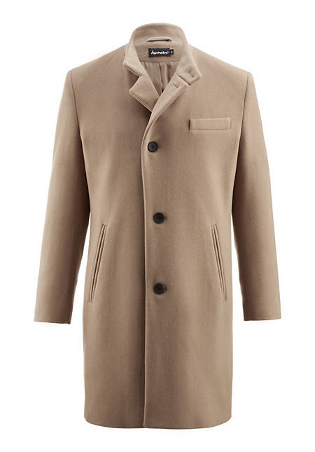 Herren Mantel aus reiner Merinowolle