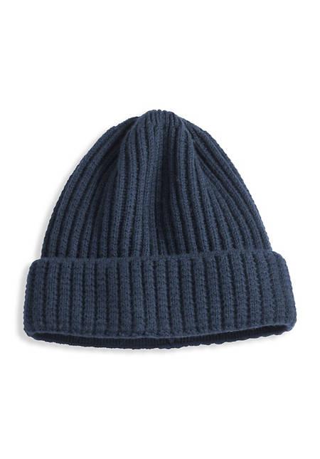 Herren Mütze aus reiner Merinowolle