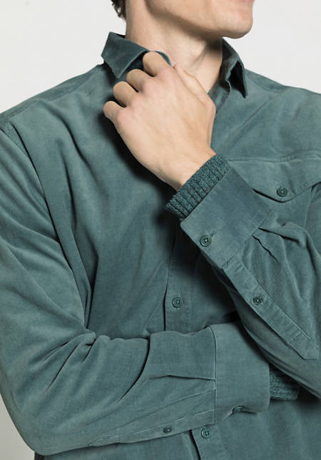 Herren Overshirt-Cordhemd Loose Fit aus Bio-Baumwolle mit Hanf