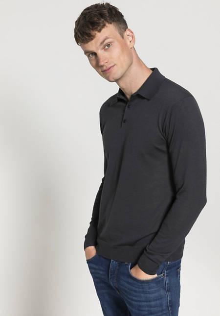 Herren Polo-Pullover aus reiner Bio-Merinowolle
