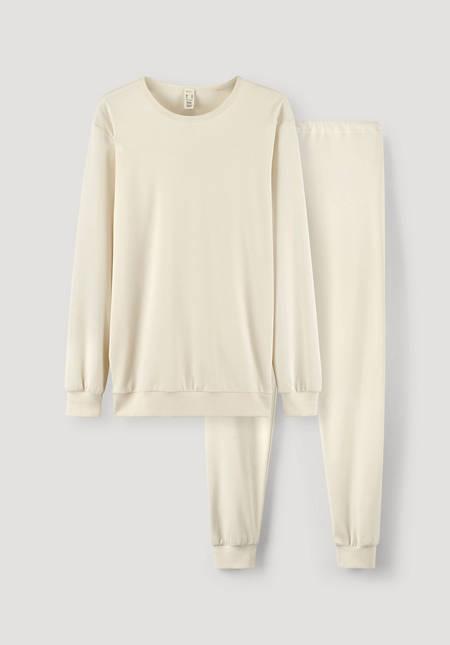 Herren Pyjama PureNATURE aus reiner Bio-Baumwolle