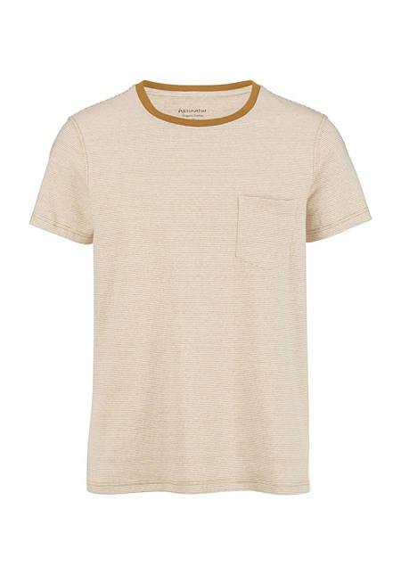 Herren Ringel-Shirt aus farbig gewachsener Bio-Baumwolle