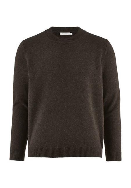 Herren Rundhals-Pullover aus reiner Lambswool