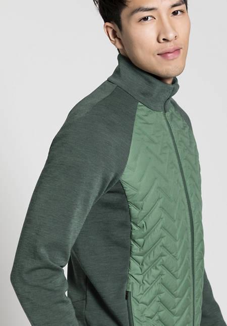 Herren Stepp-Jacke aus Bio-Merinowolle mit Bio-Baumwolle