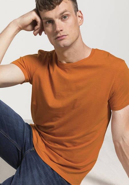 Herren T-Shirt aus Bio-Baumwolle mit Schurwolle