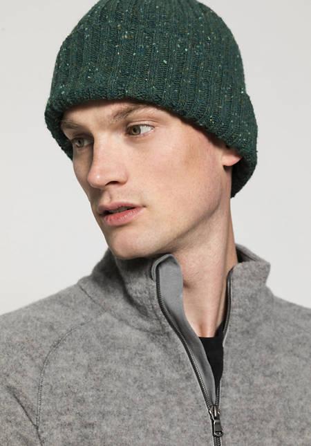 Herren Tweed-Mütze aus reiner Schurwolle