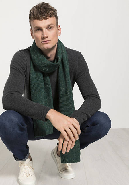 Herren Tweed-Schal aus reiner Merinowolle
