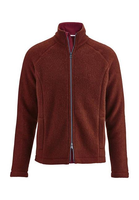 Herren Wollfleece-Jacke aus reiner Schurwolle