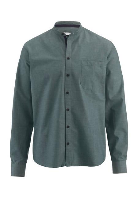 Herrenhemd Modern Fit aus Bio-Baumwolle mit Hanf und Yakwolle