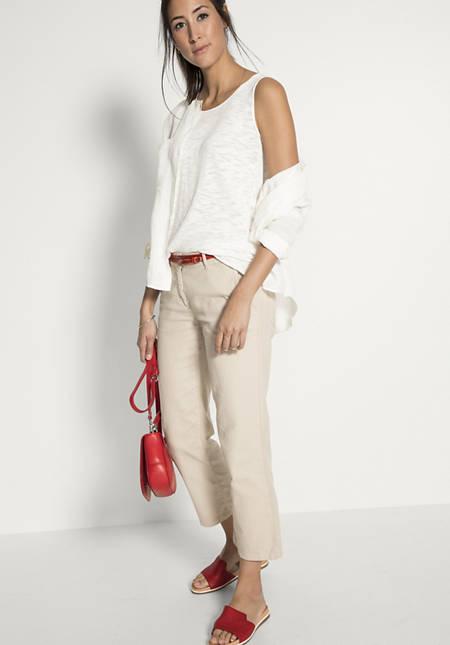 Hose aus Baumwolle mit Leinen