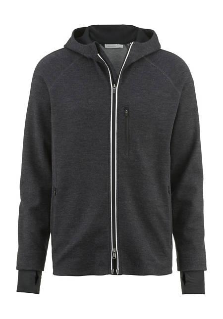 Jacke aus Schurwolle mit Baumwolle