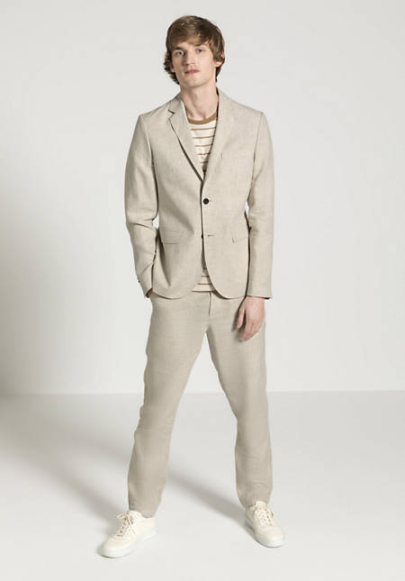Jacket made from pure organic linen