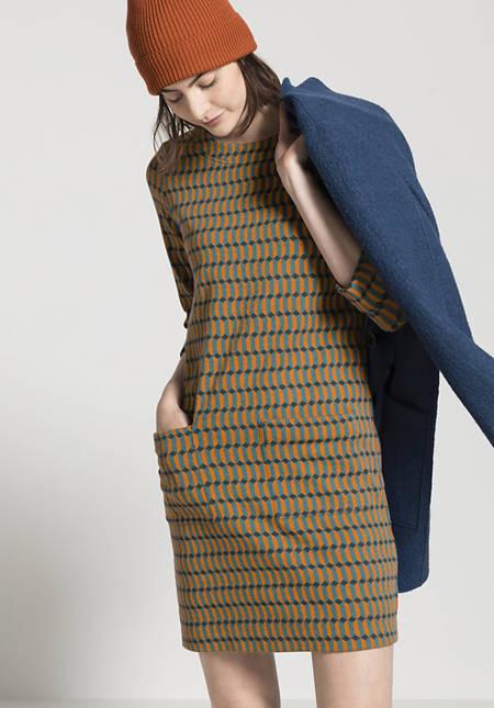 Jacquard-Kleid aus Bio-Baumwolle