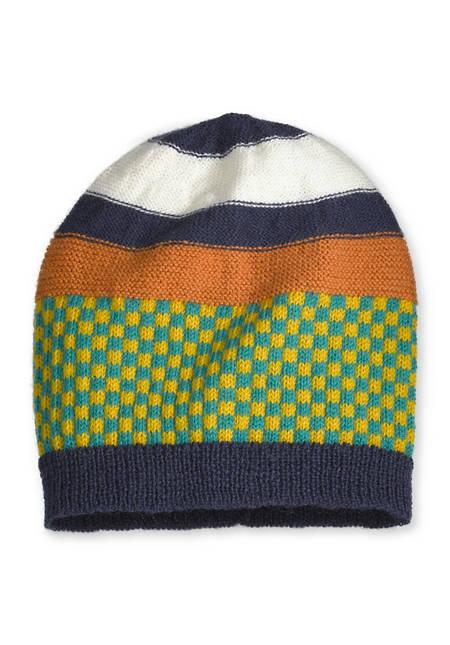 Jacquard-Mütze aus reiner Merinowolle