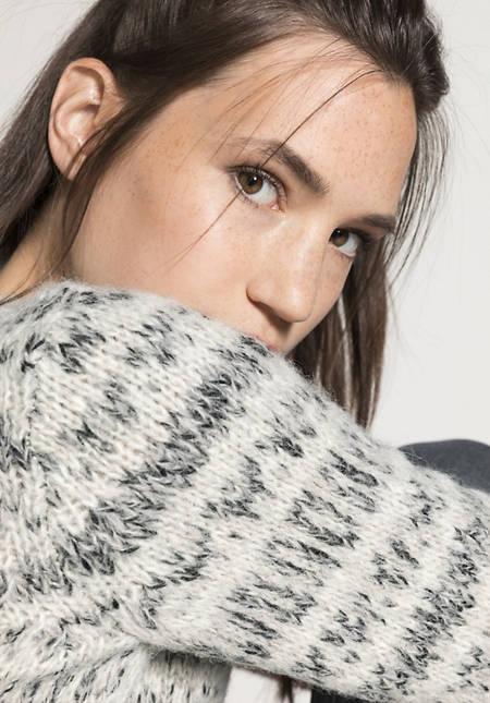 Jacquard-Pullover aus Alpaka mit Bio-Baumwolle