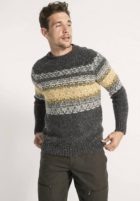 Jacquard-Pullover aus Schurwolle mit Alpaka