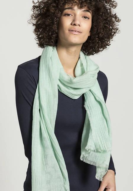 Jacquard-Schal pflanzengefärbt aus reiner Bio-Baumwolle