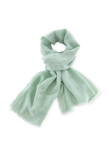 Jacquard scarf, plant-dyed from pure organic cotton