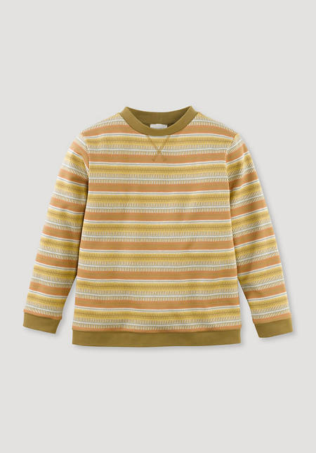 Jacquard sweatshirt made from pure organic cotton