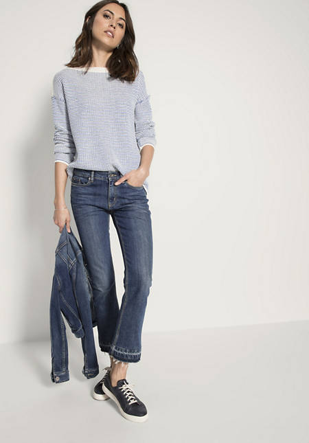 Jeans Baby Flared aus Bio-Denim