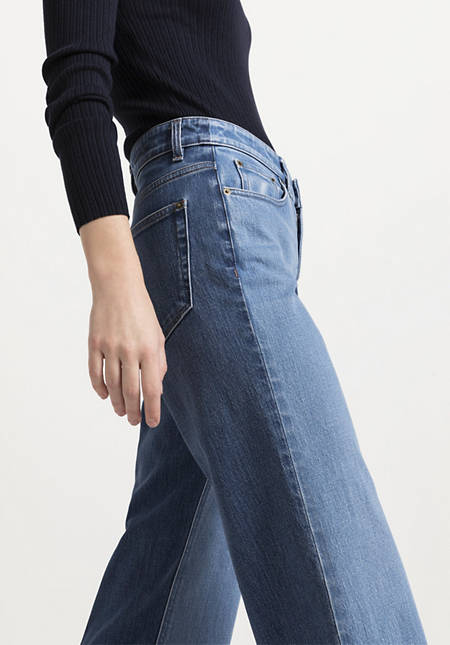 Jeans Cropped Flared aus Bio-Denim