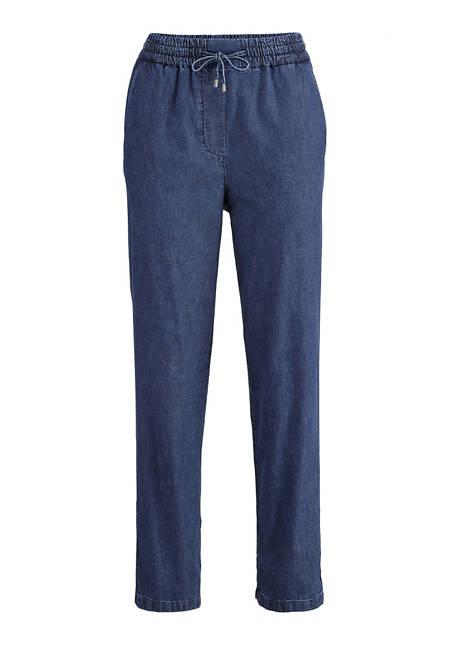 Jeans Joggpants aus Bio-Baumwolle mit Leinen
