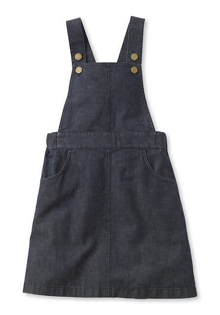 Jeans Latzkleid aus Bio-Baumwolle und Leinen