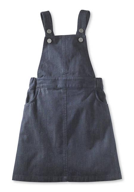 Jeans-Latzkleid aus reiner Bio-Baumwolle