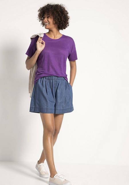 Jeans-Shorts aus reinem Bio-Denim
