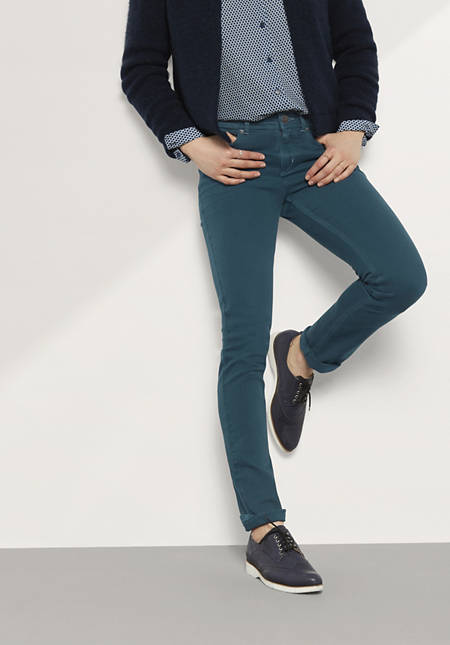 Jeans Slim Fit Coloured Denim aus Bio-Baumwolle