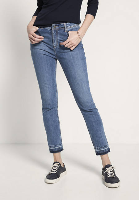 Jeans Slim Fit Mid Waist aus Bio-Denim