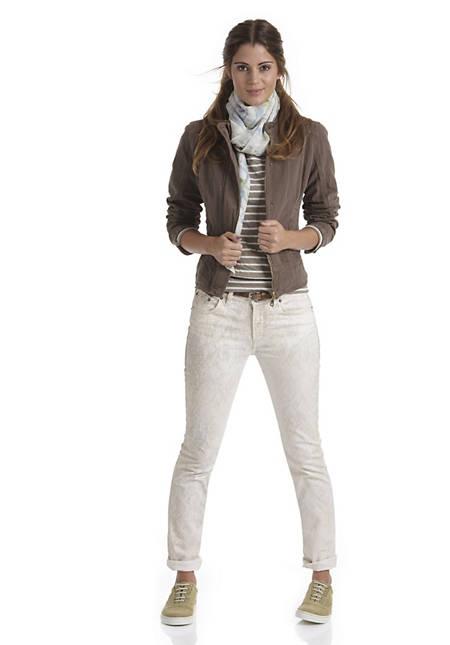 "Jeans Straight fit ""Pastel Graphic"" aus Bio-Denim"