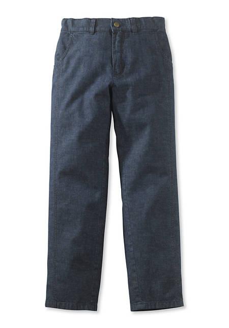 Jeans aus Bio-Baumwolle mit Leinen