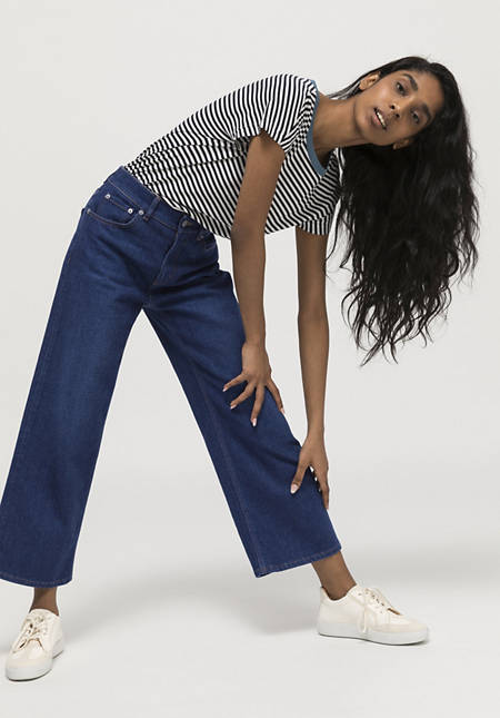 Jeans culottes made from organic denim