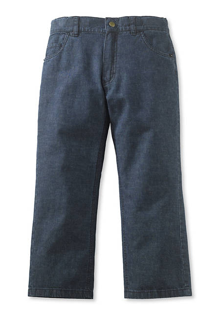 Jeans culottes made of organic cotton with linen