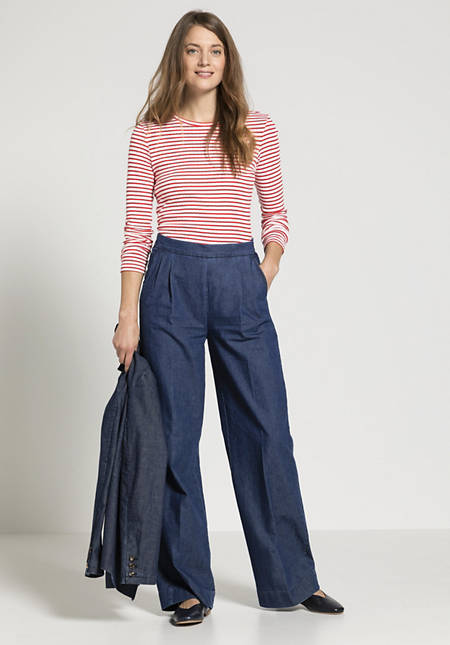 Jeans flared made of organic cotton with linen