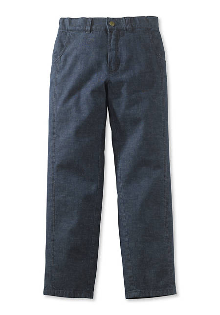 Jeans made from organic cotton with linen