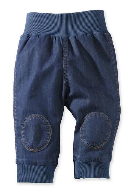Jeans mit Bund aus reiner Bio-Baumwolle
