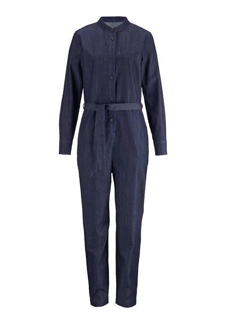 Jeans overall made from pure organic denim
