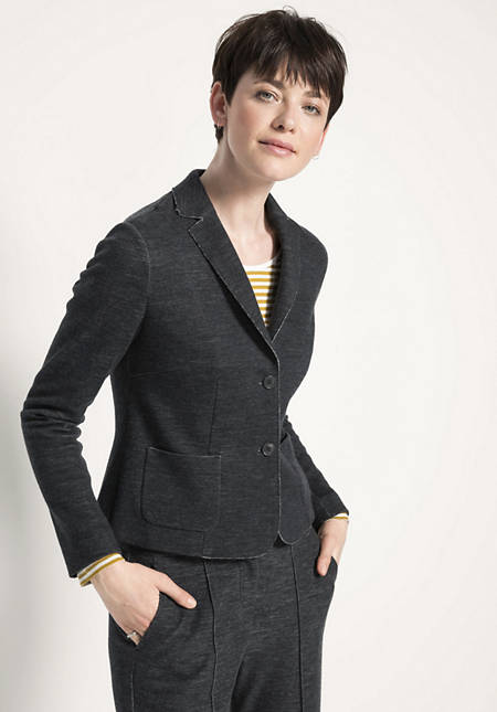 Jersey-Blazer aus Bio-Baumwolle und Schurwolle