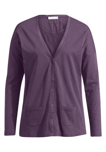 Jersey-Cardigan aus reiner Bio-Baumwolle