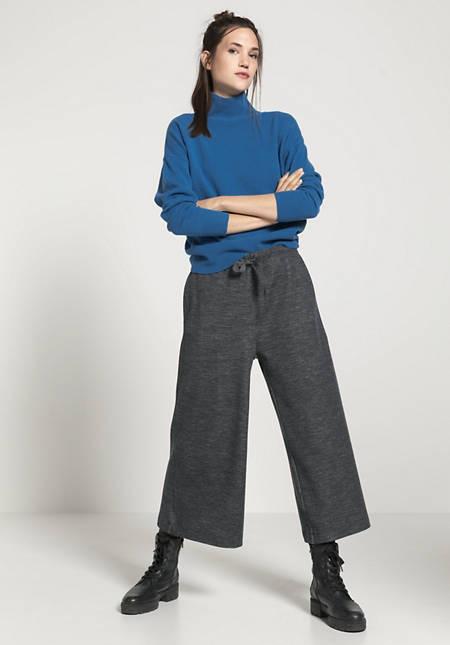 Jersey-Culotte aus Bio-Baumwolle und Bio-Schurwolle