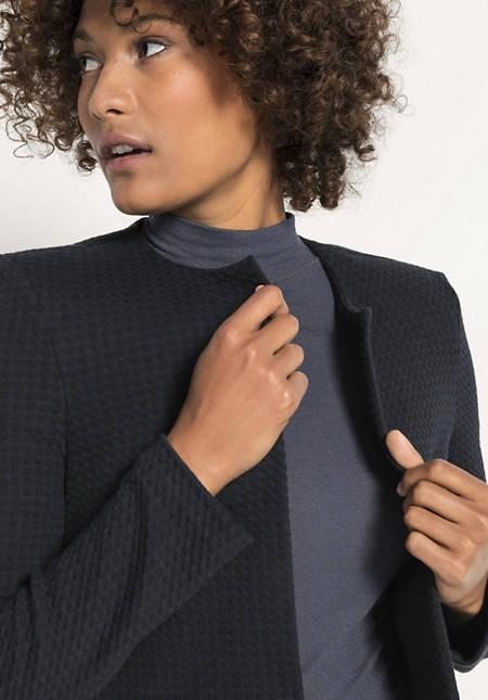 Jersey-Jacke aus reiner Bio-Baumwolle