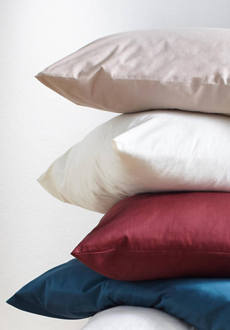 Jersey-Kissenbezug aus reiner Bio-Baumwolle