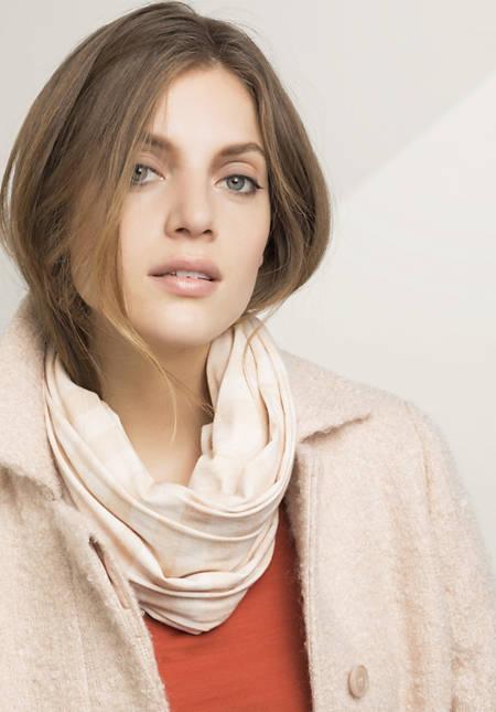 Jersey-Schal aus Bio-Baumwolle mit Schurwolle