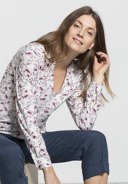 Jersey blouse made from pure organic cotton