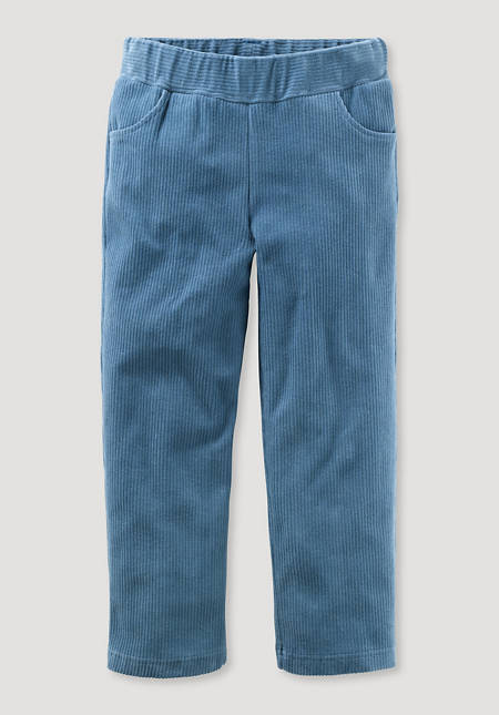 Jersey corduroy trousers made from pure organic cotton