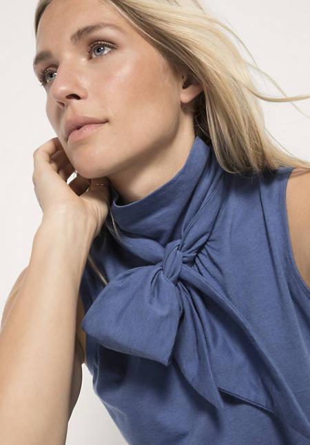 Jerseybluse aus Bio-Baumwolle mit Schurwolle